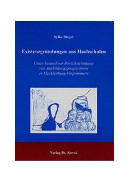 Abbildung von Riegel | Existenzgründungen aus Hochschulen | 2002 | Unter besonderer Berücksichtig... | 131