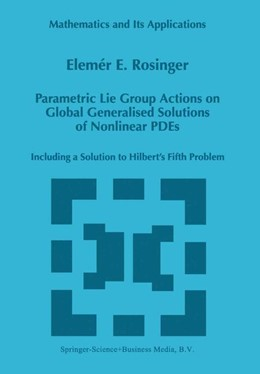 Abbildung von Rosinger | Parametric Lie Group Actions on Global Generalised Solutions of Nonlinear PDEs | 1998 | Including a Solution to Hilber... | 452