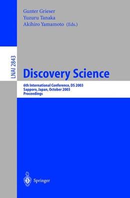 Abbildung von Grieser / Tanaka / Yamamoto | Discovery Science | 2003