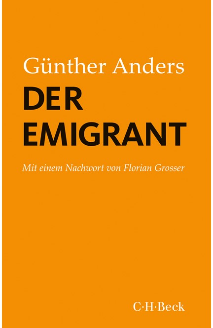 Cover: Günther Anders, Der Emigrant
