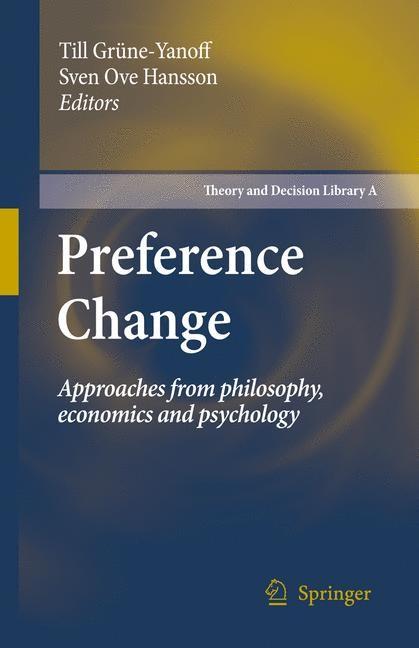 Abbildung von Grüne-Yanoff / Hansson | Preference Change | 2009
