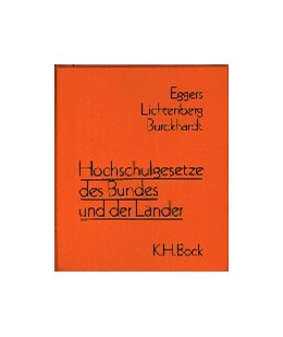 Abbildung von Eggers / Lichtenberg | Hochschulgesetze des Bundes und der Länder | 1. Auflage | | beck-shop.de