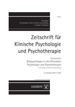 Abbildung von Ehlert / Leplow | Zeitschrift für Klinische Psychologie und Psychotherapie. Forschung und Praxis / Zeitschrift für Klinische Psychologie und Psychotherapie. Forschung und Praxis | 2005 | Themenheft: Biopsychologie in ...