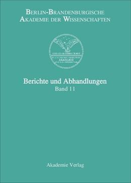 Abbildung von Berlin-Brandenburgische Akademie der Wissenschaften | Band 11 | 2006