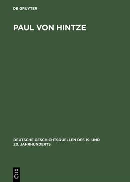 Abbildung von Paul von Hintze | Reprint 2015 | 1998 | Marineoffizier, Diplomat, Staa... | 60