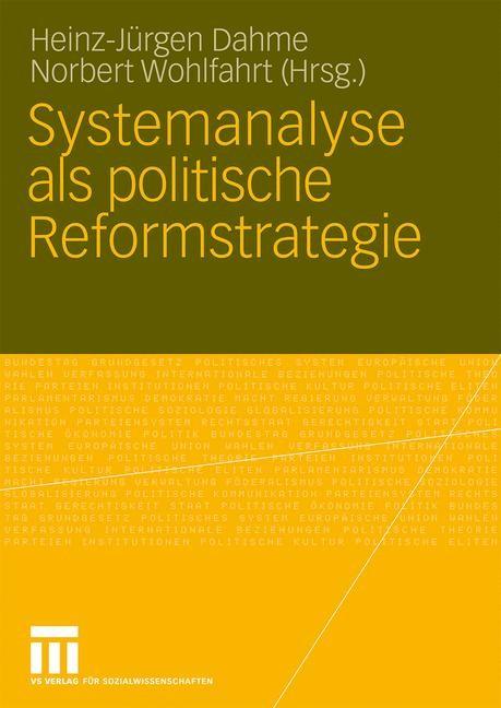 Abbildung von Dahme / Wohlfahrt   Systemanalyse als politische Reformstrategie   2010