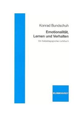 Abbildung von Bundschuh   Emotionalität, Lernen und Verhalten   2003   Ein heilpädagogisches Lehrbuch