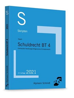 Abbildung von Haack | Skript Schuldrecht BT 4 | 22. Auflage | 2021 | beck-shop.de