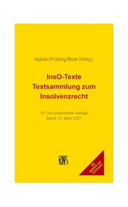 Abbildung von Kübler / Prütting | InsO-Texte | 10. Auflage | 2021 | beck-shop.de