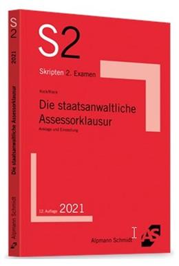 Abbildung von Kock / Rieck | Die staatsanwaltliche Assessorklausur | 12. Auflage | 2021 | beck-shop.de