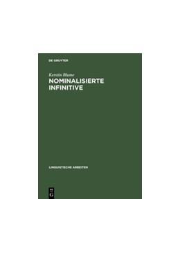 Abbildung von Blume   Nominalisierte Infinitive   Reprint 2012   2004   Eine empirisch basierte Studie...   487