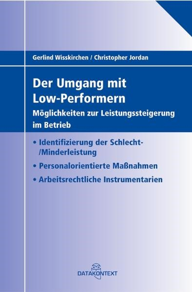 Der Umgang mit Low-Performern | Wisskirchen / Jordan, 2007 | Buch (Cover)