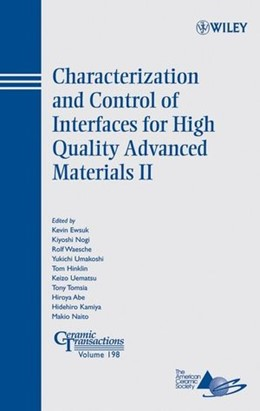 Abbildung von Ewsuk | Characterization and Control of Interfaces for High Quality Advanced Materials II | 2007 | Ceramic Transactions, Volume 1... | 198