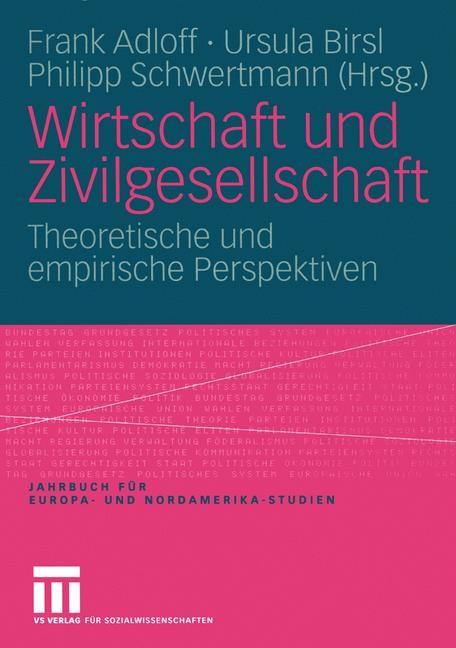 Abbildung von Adloff / Birsl / Schwertmann | Wirtschaft und Zivilgesellschaft | 2005 | 2005
