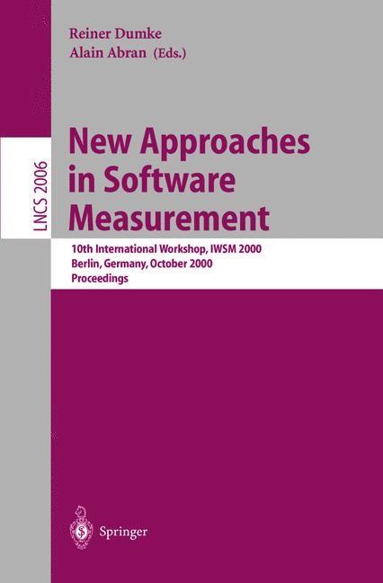 Abbildung von Dumke / Abran | New Approaches in Software Measurement | 2001