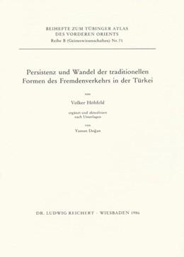 Abbildung von Höhfeld | Persistenz und Wandel der traditionellen Formen des Fremdenverkehrs in der Türkei | 1986