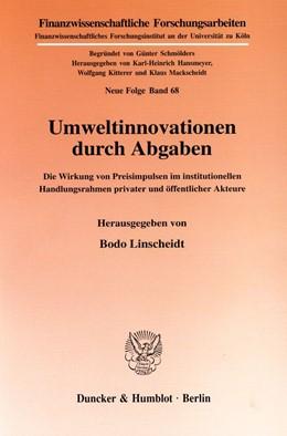 Abbildung von Linscheidt | Umweltinnovationen durch Abgaben. | 2000 | Die Wirkung von Preisimpulsen ... | 68