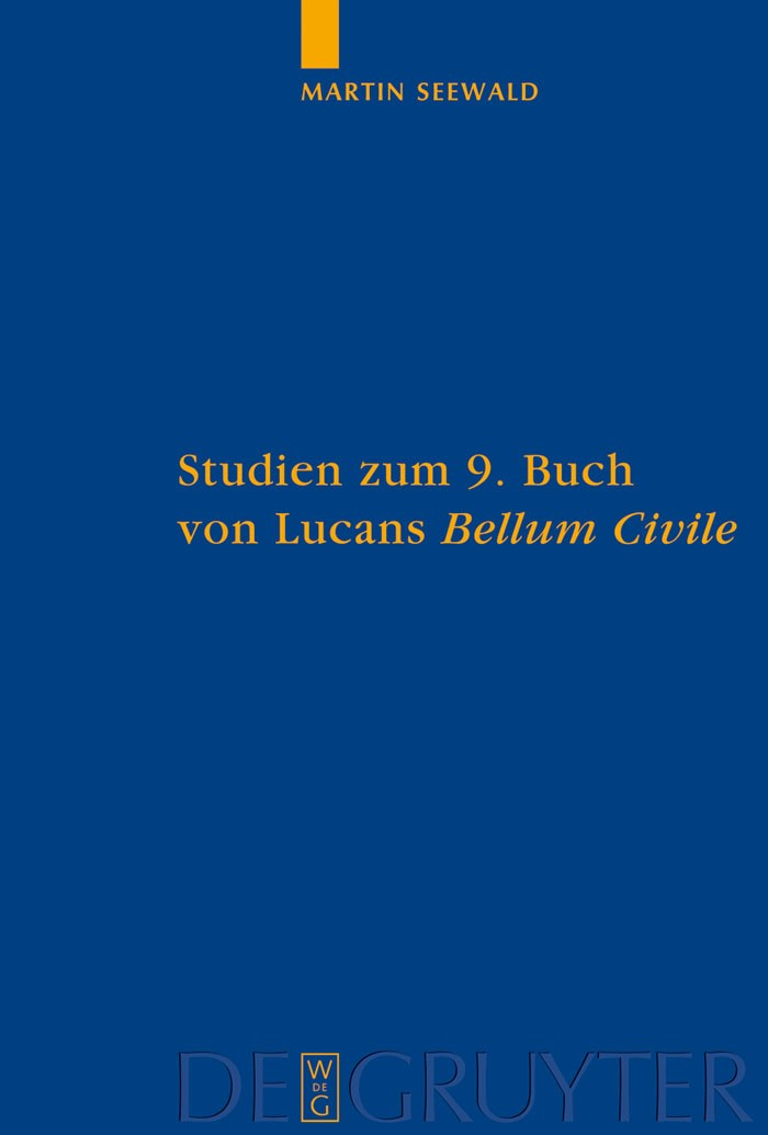 Abbildung von Seewald   Studien zum 9. Buch von Lucans