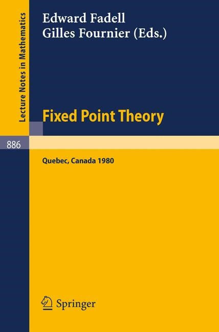 Abbildung von Fadell / Fournier | Fixed Point Theory | 1981