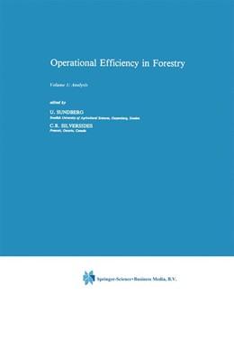 Abbildung von Sundberg / Silversides | Operational Efficiency in Forestry | 1988