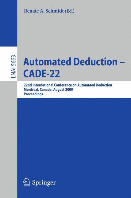 Abbildung von Schmidt | Automated Deduction – CADE-22 | 2009