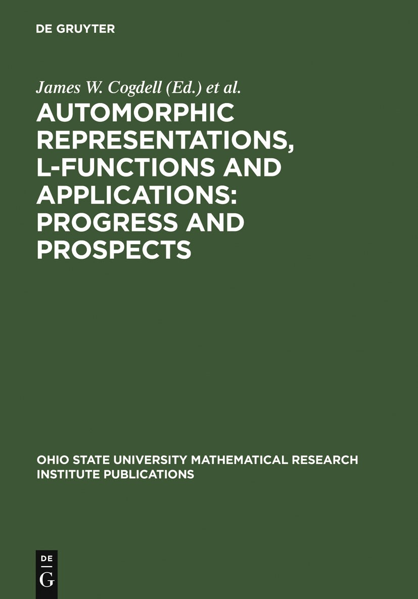 Automorphic Representations, L-Functions and Applications: Progress and Prospects | Reprint 2011, 2005 | Buch (Cover)