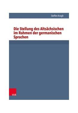 Abbildung von Krogh | Die Stellung des Altsächsischen im Rahmen der germanischen Sprachen | 1996 | Band 029