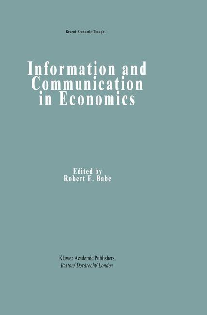 Abbildung von Babe | Information and Communication in Economics | 1993