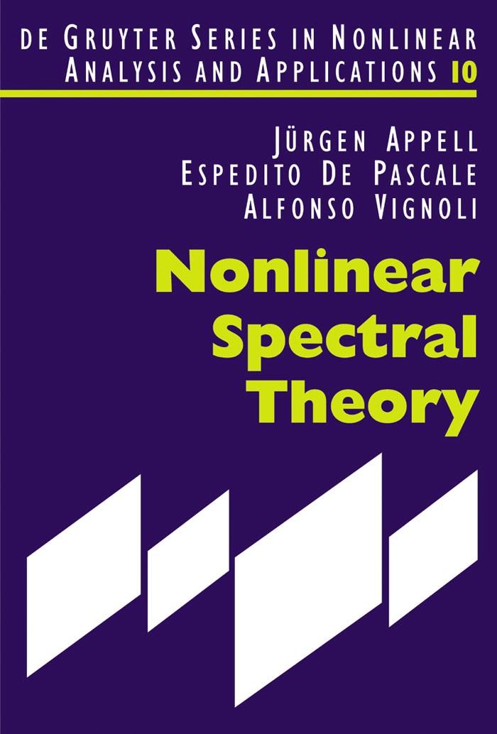 Abbildung von Appell / De Pascale / Vignoli | Nonlinear Spectral Theory | 2004