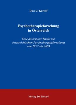 Abbildung von Karloff | Psychotherapieforschung in Österreich | 2005 | Eine deskriptive Studie zur ös... | 112