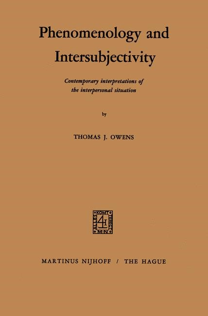 Abbildung von Owens   Phenomenology and Intersubjectivity   1971