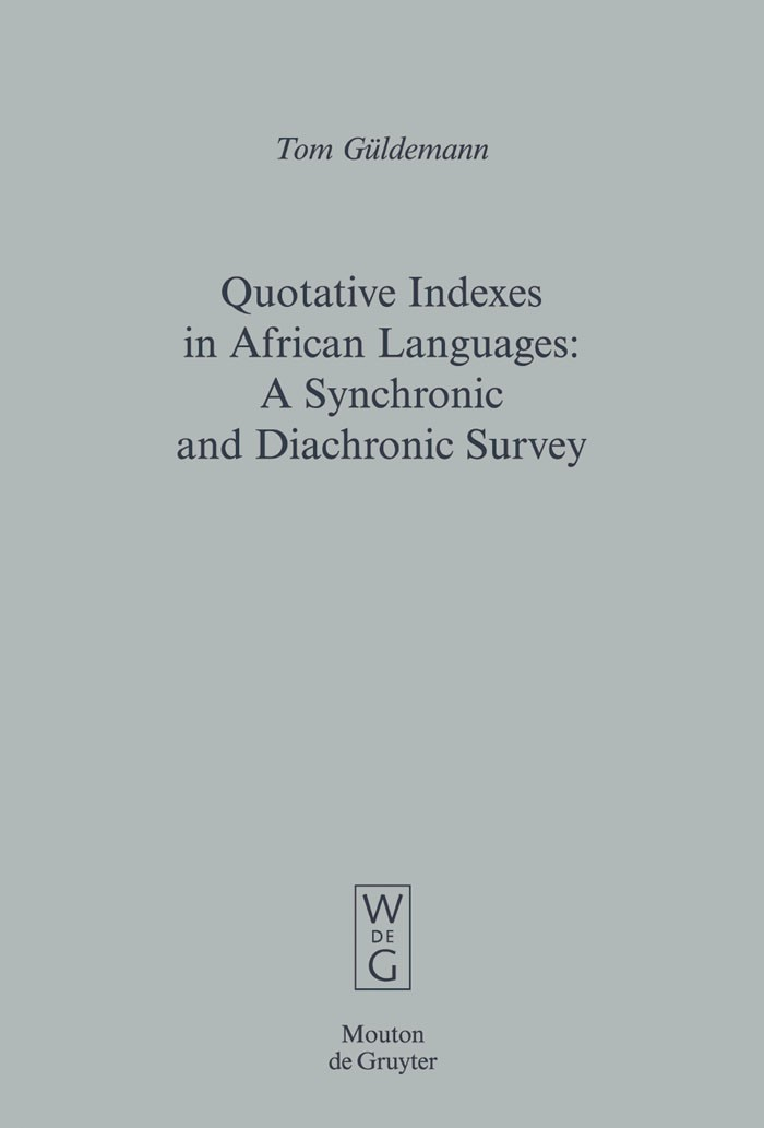 Abbildung von Güldemann | Quotative Indexes in African Languages | 2008