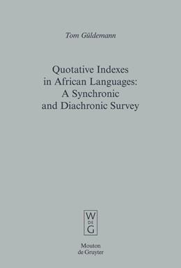 Abbildung von Güldemann | Quotative Indexes in African Languages | 2008 | A Synchronic and Diachronic Su... | 34