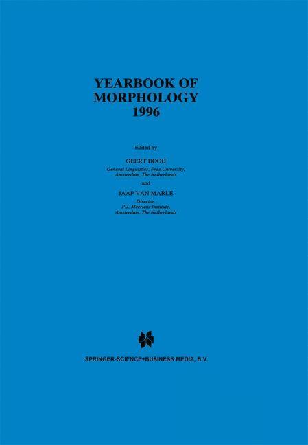 Abbildung von Booij / van Marle   Yearbook of Morphology 1996   1997