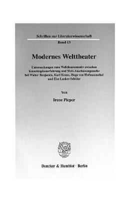Abbildung von Pieper | Modernes Welttheater. | 2000 | Untersuchungen zum Welttheater... | 13
