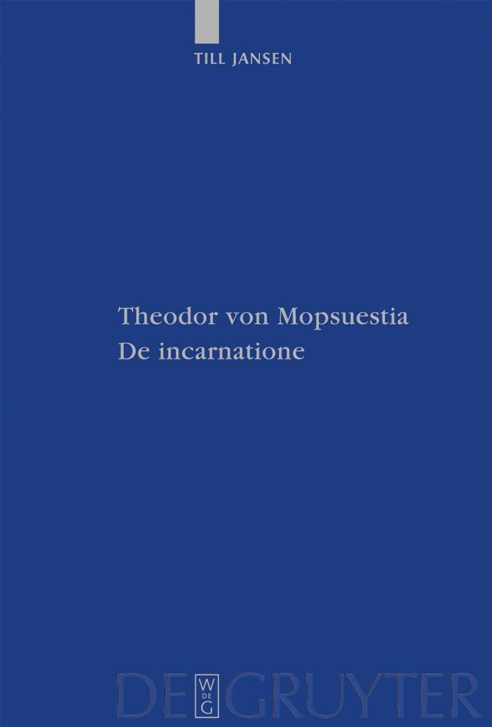 Abbildung von Jansen | Theodor von Mopsuestia, De incarnatione | 2009