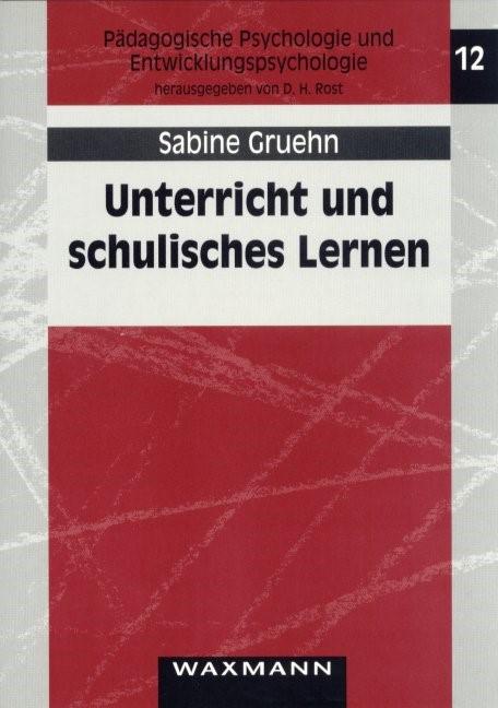 Abbildung von Gruehn   Unterricht und schulisches Lernen   2000