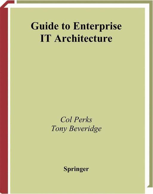 Abbildung von Perks / Beveridge | Guide to Enterprise IT Architecture | 2002