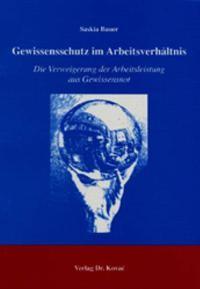 Abbildung von Bauer | Gewissensschutz im Arbeitsverhältnis | 2004