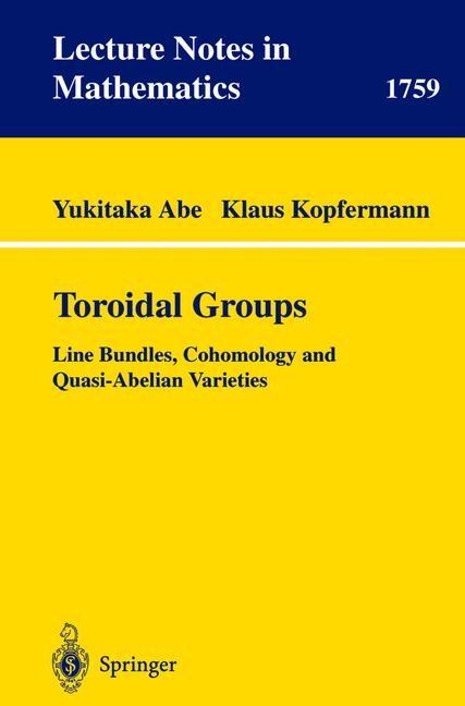 Toroidal Groups | Abe / Kopfermann, 2001 | Buch (Cover)