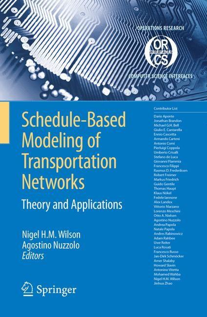 Abbildung von Wilson / Nuzzolo | Schedule-Based Modeling of Transportation Networks | 2008