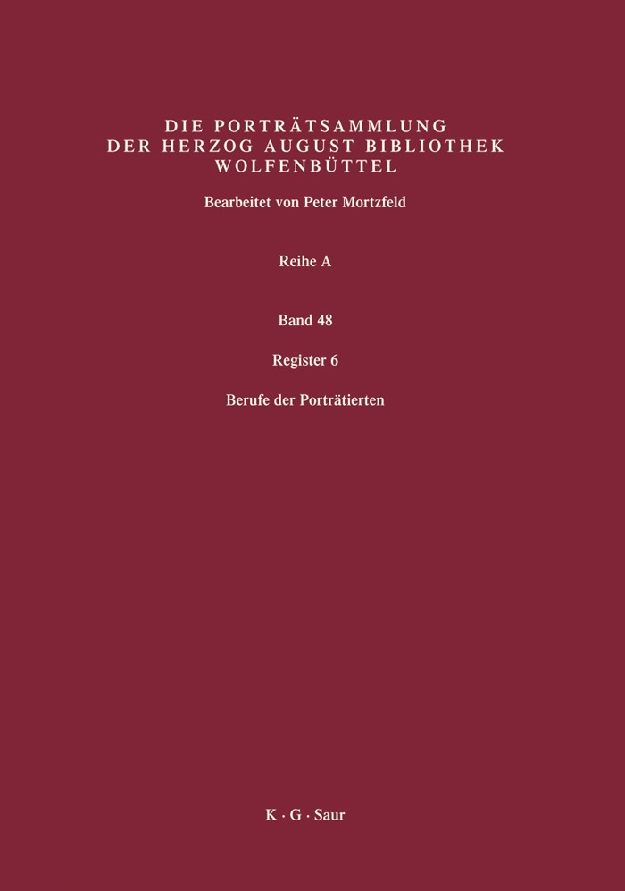Register 6 | Mortzfeld / Herzog August Bibliothek, 2007 | Buch (Cover)