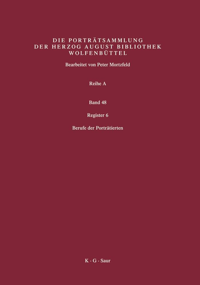 Abbildung von Mortzfeld / Herzog August Bibliothek | Register 6 | 2007