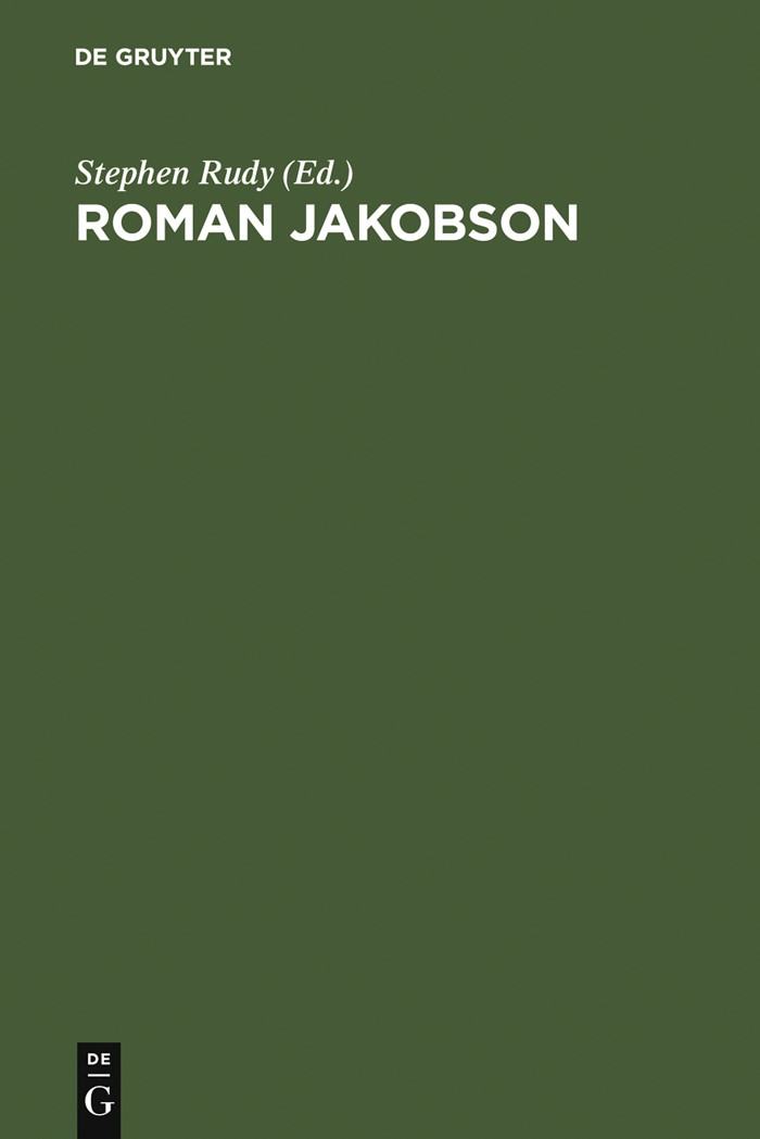 Abbildung von Rudy | Roman Jakobson | Reprint 2012 | 1990