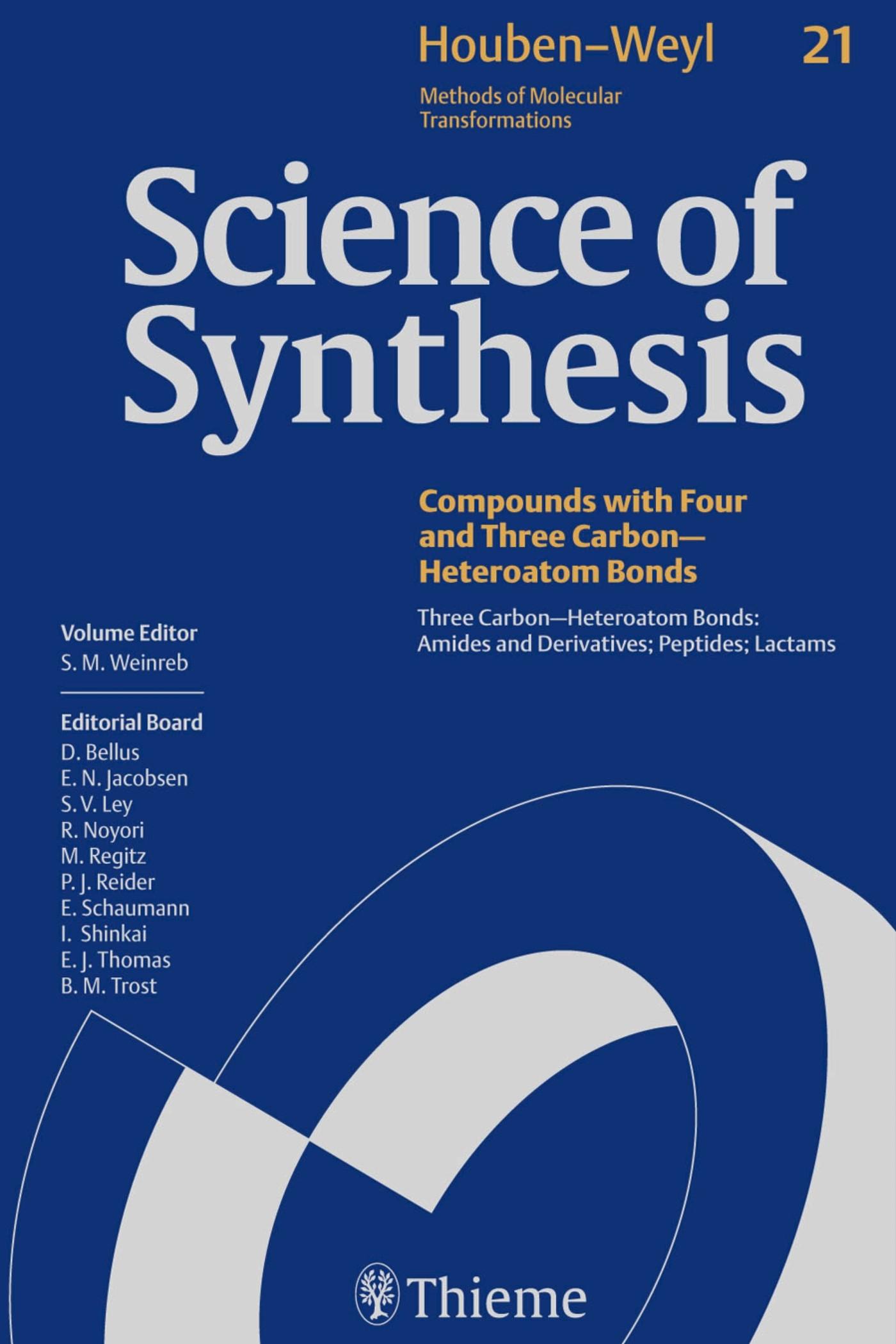 Abbildung von Science of Synthesis: Houben-Weyl Methods of Molecular Transformations Vol. 21   1. Auflage   2005