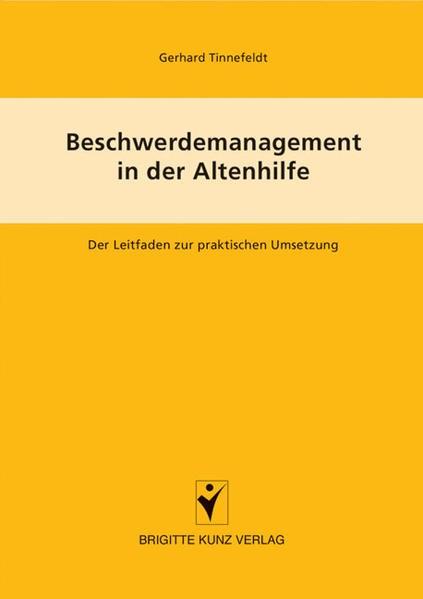 Abbildung von Tinnefeldt   Beschwerdemanagement in der Altenpflege   2005