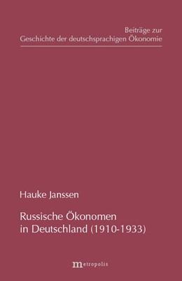 Abbildung von Janssen | Russische Ökonomen in Deutschland (1910-1933) | 2004 | 20