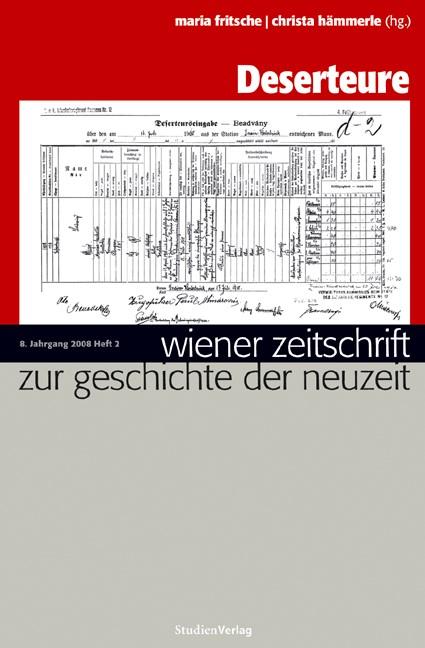 Abbildung von Fritsche / Hämmerle | Wiener Zeitschrift zur Geschichte der Neuzeit 2/08 | 2009