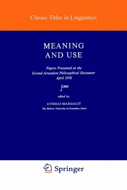 Abbildung von Margalit | Meaning and Use | 1979