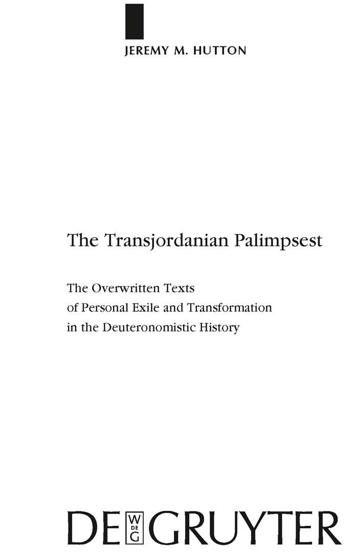 Abbildung von Hutton | The Transjordanian Palimpsest | 2009